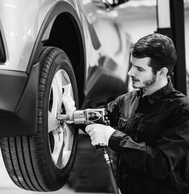 Changement des pneus